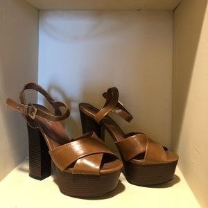 Forever 21 brown pumps